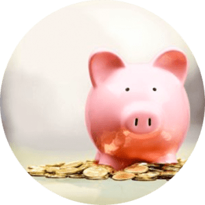 Image of a piggy bank and the money you will save when you find affordable dental care with a dental discount plan.