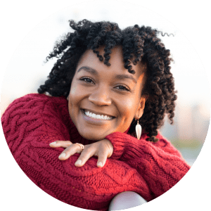 beautiful female patients smile from dentists in Lincoln,NE