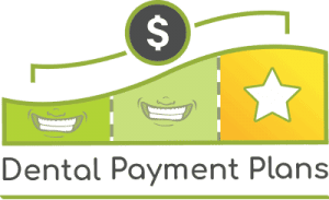 Image of a logo for dental payment plans.