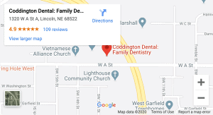 CODD map for Lincoln family dentists