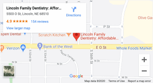 LFD Map for Lincoln family dentists