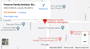 PFD Map for Lincoln family dentists